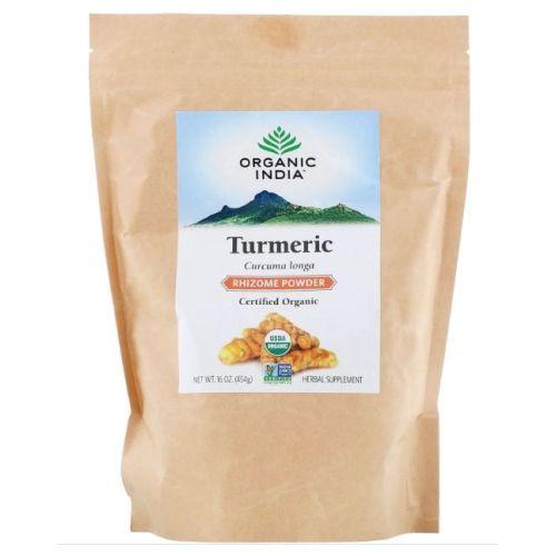 Organic India - Turmeric Rhizome Powder 1 lb by Organic India