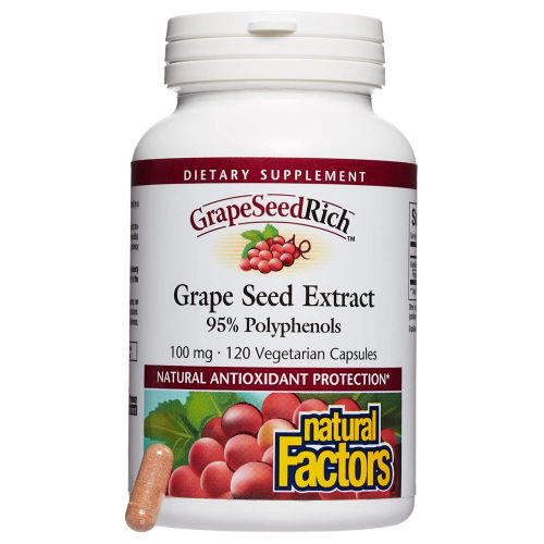 Natural Factors - GrapeSeed Rich Grape Seed Extract 120 Caps by Natural Factors