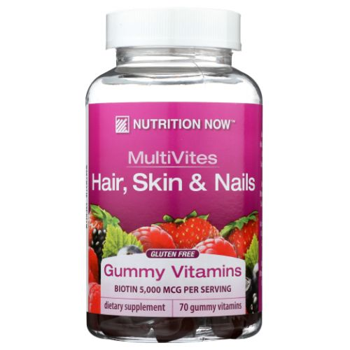 Nutrition Now - Multi-Vitamin Plus Hair Skin & Nails Support Gummies 70 CT by Nutrition Now