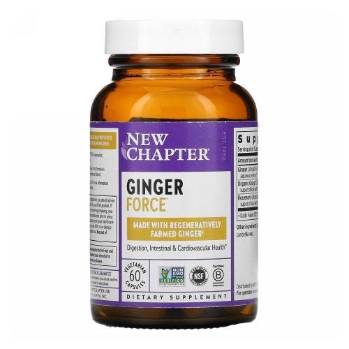 New Chapter - Ginger Force 30 Liquid Veg Caps by New Chapter