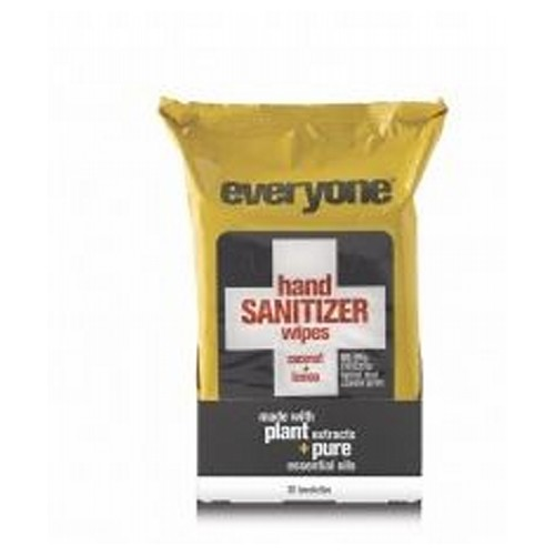 EO Products - Everyone Hand Sanitizing Wipes Coconut & Lemon 30 Count by EO Products