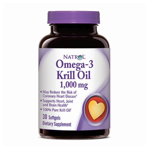 Natrol - Omega-3 Krill 30 Softgels by Natrol