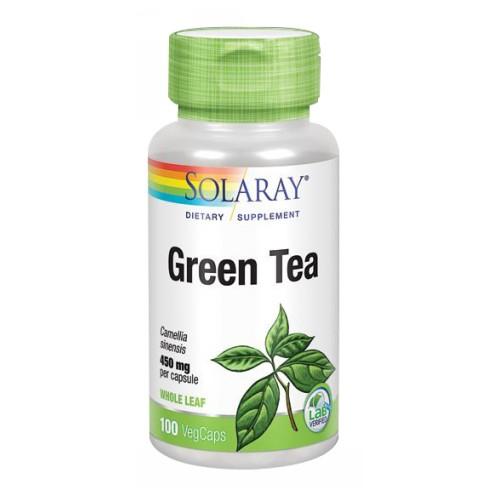 Green Tea, 450 mg, 100 Caps by Solaray