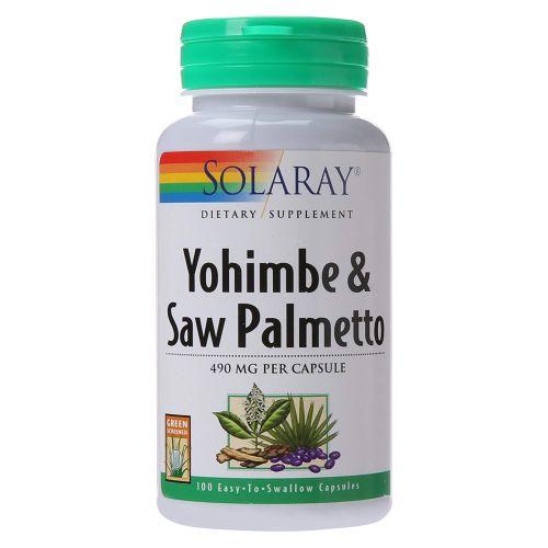 Solaray - Yohimbe & Saw Palmetto 100 Caps by Solaray