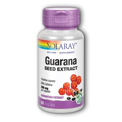 Guarana Seed Extract 60 Caps by Solaray