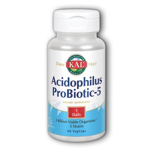 Acidophilus Probiotic-5 60 Caps by Kal