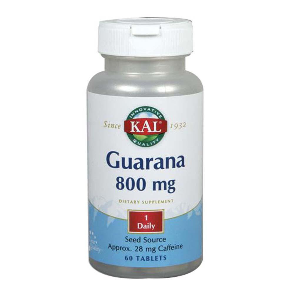 Guarana, 800 mg, 60 Tabs by Kal