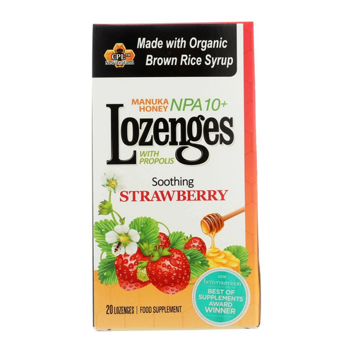 Pacific Resources - Propolis Lozenges Strawberry 20 Count by Pacific Resources