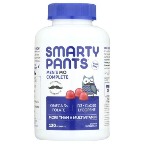 Gummy Vitamins Men's Complete Vitamins 120 Count by SmartyPants Gummy Vitamins