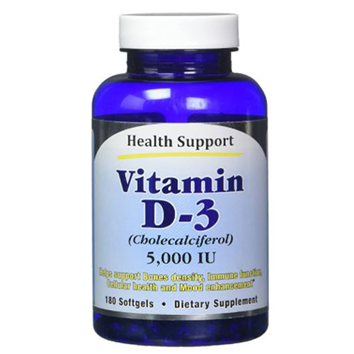 Health Support - Vitamin D-3 180 Softgels by Health Support