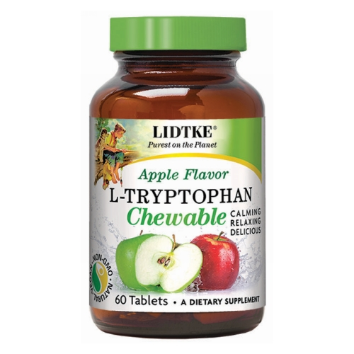 Lidtke - L-Tryptophan Chewable Green Apple 60 Tabs by Lidtke