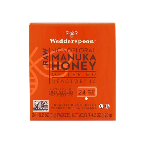 Wedderspoon Organic - Manuka Honey Kf1actor 16 24 Packs, 0.2 oz Each by Wedderspoon Organic