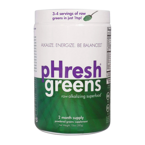pHresh Products - Organic Raw Alkalizing Superfood Greens Powder 10 Oz by pHresh Products