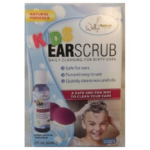 Wallys Natural Products - Kids Ear Scrub 2 Oz by Wallys Natural Products
