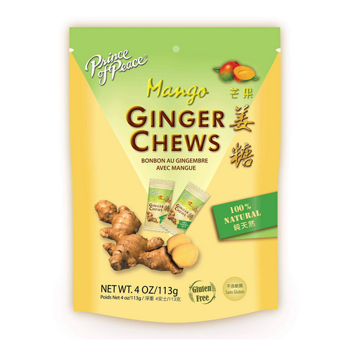 Prince Of Peace - Ginger Chews With Mango 3 Oz by Prince Of Peace