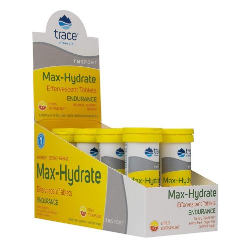 Trace Minerals - Max-Hydrate Endurance Citrus Flavor 10 Tabs by Trace Minerals