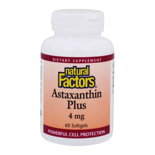 Natural Factors - Astaxantin Plus 60 Softgels by Natural Factors