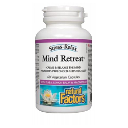 Natural Factors - Stress-Relax Mind Retreat 60 Veg Caps by Natural Factors