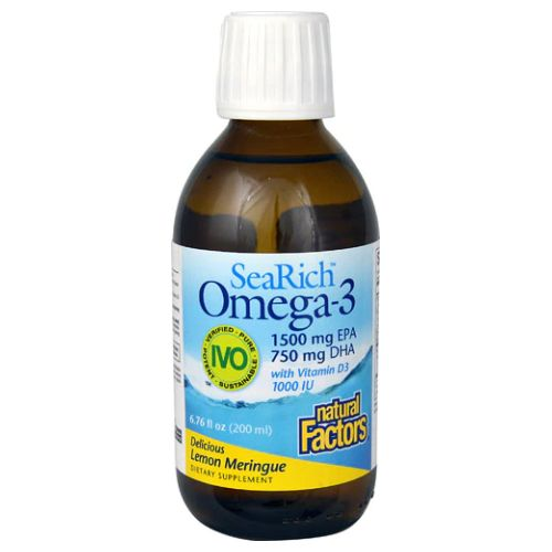 Natural Factors - SeaRich Omega-3 Lemon Meringue 6.8 Oz by Natural Factors