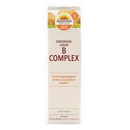 Sundown Naturals Vitamin B-Complex Sublingual Liquid 24
