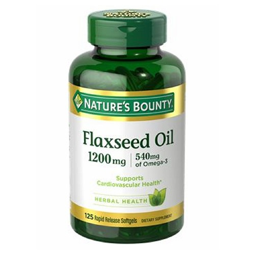 Nature's Bounty - Flaxseed Oil 24 X 125 Softgels by Nature's Bounty