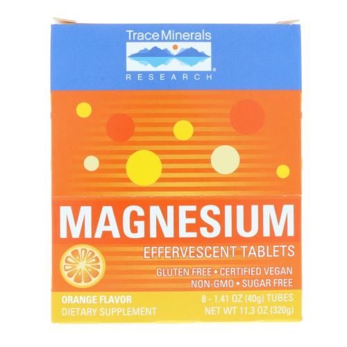 Trace Minerals - Magnesium Effervescent Orange Flavor 8 Count by Trace Minerals