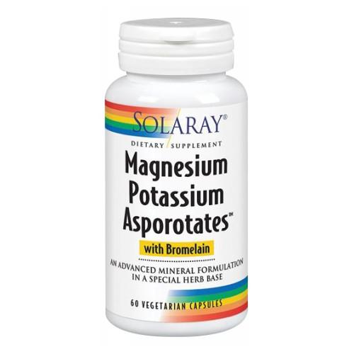 Magnesium Potassium Asporotates 60 Caps by Solaray