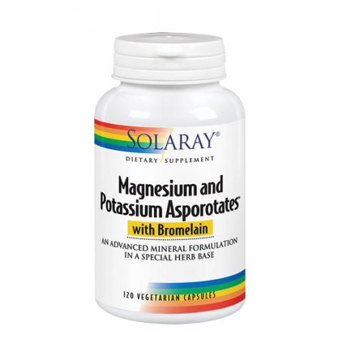 Magnesium & Potassium Asporotates 120 Caps by Solaray