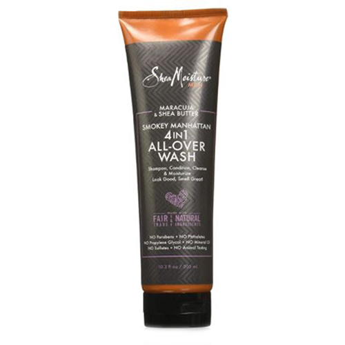 Men's 4 in1 All-Over Wash Maracuja & Butter Smokey 10.3 Oz by Shea Moisture