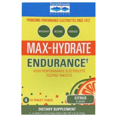 Trace Minerals - Max Hydrate Endurance 4 Tubes by Trace Minerals