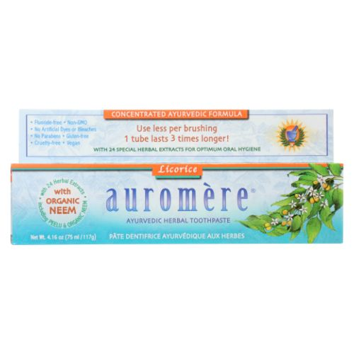 Auromere - Ayurvedic Herbal Toothpaste Licorice, 4.16 Oz by Auromere