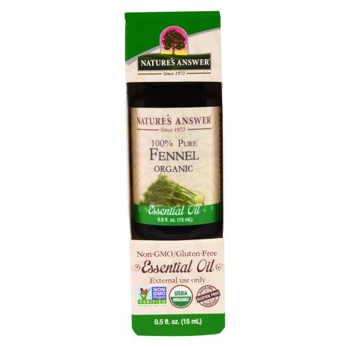 Organic Essential Oil Fennel 0.5 oz by Nature's Answer