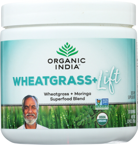 Organic India - Organic Support Wheat Grass Lift 15 Count by Organic India