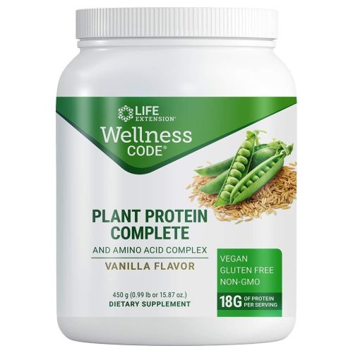 Life Extension - Plant Protein Complete and Amino Acid Complex Vanilla 450 Grams by Life Extension