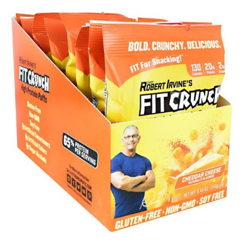 Fit Crunch Puffs Cheddar 8 Count by Fit Crunch Bars