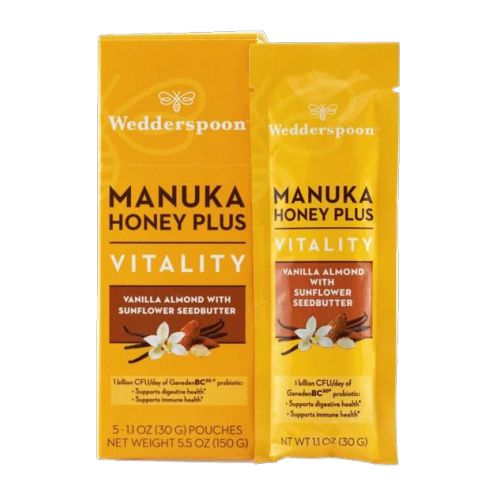 Wedderspoon - Manuka Honey Plus Vitality Vanilla Almond with Sunflower 200 Grams by Wedderspoon
