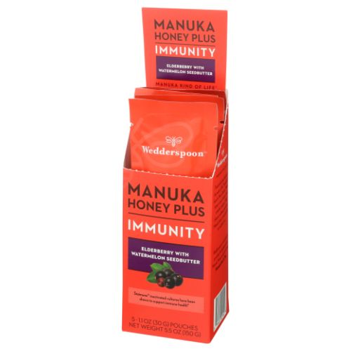 Wedderspoon - Mankuka Honey Plus Immunity Elderberry with Watermelon 200 Grams by Wedderspoon