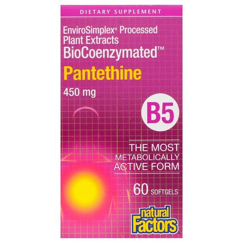 Natural Factors - BioCoenzymated Pantethine 60 Softgels by Natural Factors
