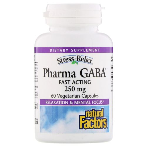 Natural Factors - Pharma GABA Stress-Relax 60 Veg Caps by Natural Factors
