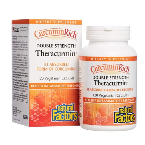 Natural Factors - CurcuminRich Double Strength Theracurmin 120 Veg Caps by Natural Factors