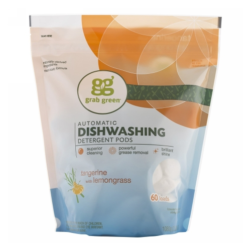 Tangerine Dishwasher Pods 60 Laods by Grab Green Tangerine Dishwasher Pods 60 LaodsGrab Green