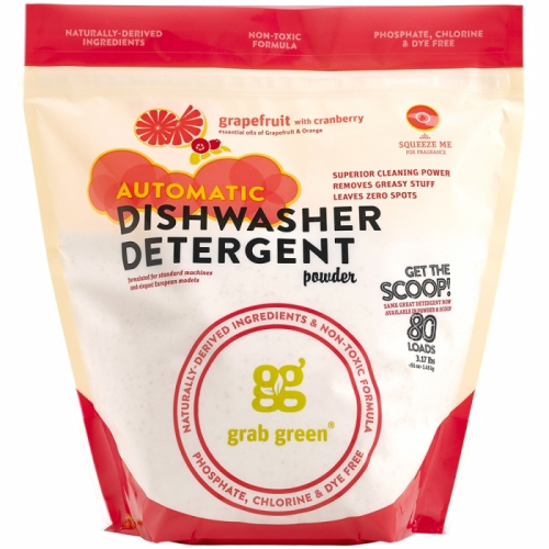 Automatic Dishwasher Detergent Powder Grapefruit 3.17 lbs by Grab Green Automatic Dishwasher Detergent Powder Grapefruit 3.17 lbsGrab Green