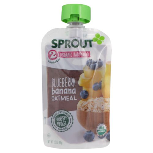 Sprout - Organic Baby Food Blueberry Banana Oatmeal 3.5 Oz by Sprout