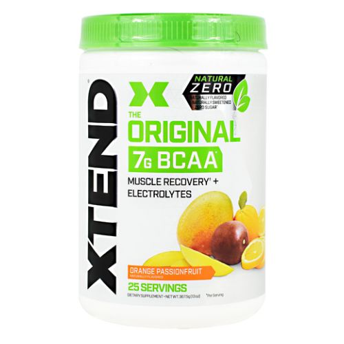 Natural Zero Xtend Orange Passionfruit 25 Each by Scivation Natural Zero  Naturally Flavored  Naturally Sweetened  Zero Sugar. The Original. 7g BCAA. Muscle Recovery + Electrolytes. The Official Recovery Brand of Champions. Xtend Natural Zero Is Free of Artificial Sweeteners  Flavors  And Chemical Dyes  its The Naturally Flavored Version Of Our AwardWinning Xtend Recovery And Performance Formula. Powered By 7 Grams Of BranchedChain Amino Acids (BCAAs)  Which Have Been Clinically Shown To Support Muscle Recovery And Growth  Xtend Natural Zero Also Contains Hydrating Electrolytes And Additional Performance Ingredients To Help You Refuel  Repair  And Recover. Try Each Mouthwatering  Naturally Sweetened Flavor Of Xtend Natural Zero To Fuel Your Health And Fitness Goals. The Natural Zero Promise  Naturally Flavored. Naturally Sweetened. Zero Sugar.