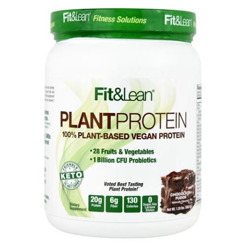 Fit & Lean Plant Protein Chocolate Fudge 1 lb by Maximum Human Performance 100% PlantBased Vegan Protein. 28 Fruits and Vegetables. 1 Billion CFU Probiotics. Voted Best Tasting Plant Protein 20g Protein. 6g Fiber. 130 Calories. 0 Sugar  Soy Lactose  Gluten. Keto Friendly. 3g Net Carbs. Plant Protein Never Tasted So Good! Fit & Lean Plant Protein Delivers Unmatched Taste And Nutrition With 20 Grams Of NonGMO Plant Protein (Organic Pea And Rice  And Fava Bean)  28 Organic Fruits And Vegetables  1 Billion CFU Probiotics  And 22 Vitamins And Minerals. This Vegan  And Keto Friendly Supplement Is a Great Addition to Any Health and Fitness Program for Optimal Muscle Building  Performance and Recovery. 20g Complete Protein. Provides Complete Amino Acid Protein Profile. 28 Fruits and Vegetables. Includes Beet  Kale  Spinach  Mango  Blueberry  Pineapple  Banana And Carrot. 1 Billion CFU Probiotics. Supports Immune Support System and Digestion. 22 Vitamins and Minerals. Includes 100% DV Vitamin A  Vitamin C And Vitamin D. No Dairy  GMOs  or Cholesterol. 6g Fiber. High In Fiber  Includes Oat Fiber And Flaxseed. No Artificial Flavors or Sweeteners. Made With Organic  Pea Protein  Rice Protein And Vegetables.