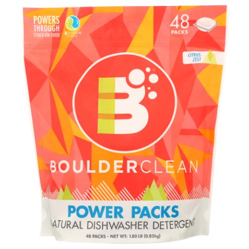 Dishwasher Detergent 48 Packets by Boulder Cleaner Dishwasher Detergent 48 Packets by Boulder Cleaner