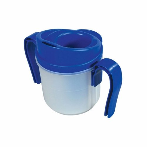 ADL Dysphagia Cup - 5 Oz by Fabrication Enterprises The cup provides measured small amount of liquid without the use of thicknersCup has broad base to minimize tipping and spillingIncludes 2 removable handlesEasy to clean and institutional dishwasher safeSimply by tipping the Provale Cup in a normal drinking motion, the cup delivers Small Sips (5cc, one teaspoon)