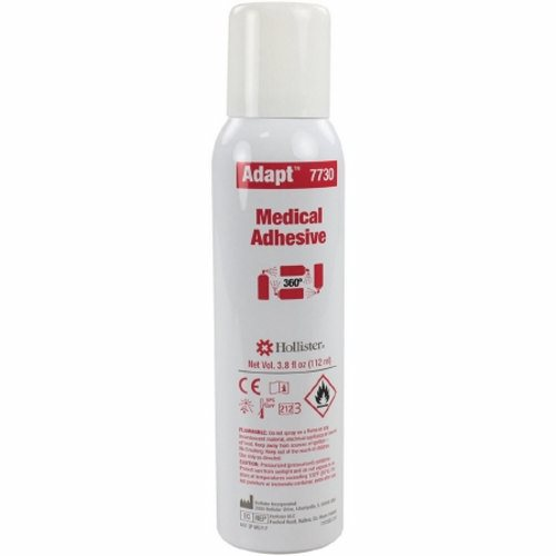 Adhesive Adapt 3.8 oz Adhesive Spray - 1 Each by Hollister May be used on numerous medical appliances and prosthesesMedical grade silicone adhesive is unaffected by moistureCan be used on sensitive skinAllows skin to breatheRemains flexible and comfortableProvides a secure and reliable sealSpray allows application directly to appliance prior to application to skin