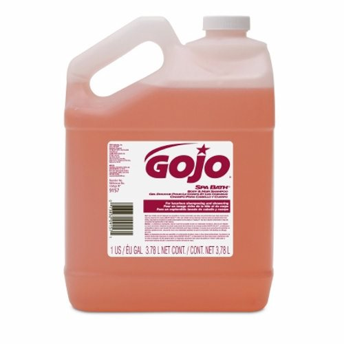 Shampoo and Body Wash GOJO Spa Bath 1 gal. Jug Herbal Scent - 1 Each by Gojo Luxurious, enriched formula for hands, hair and bodyIdeal for use in health clubs and fitness centers