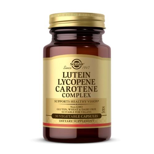 Solgar - Lutein Lycopene Carotene Complex Vegetable Capsules 30 V Caps by Solgar